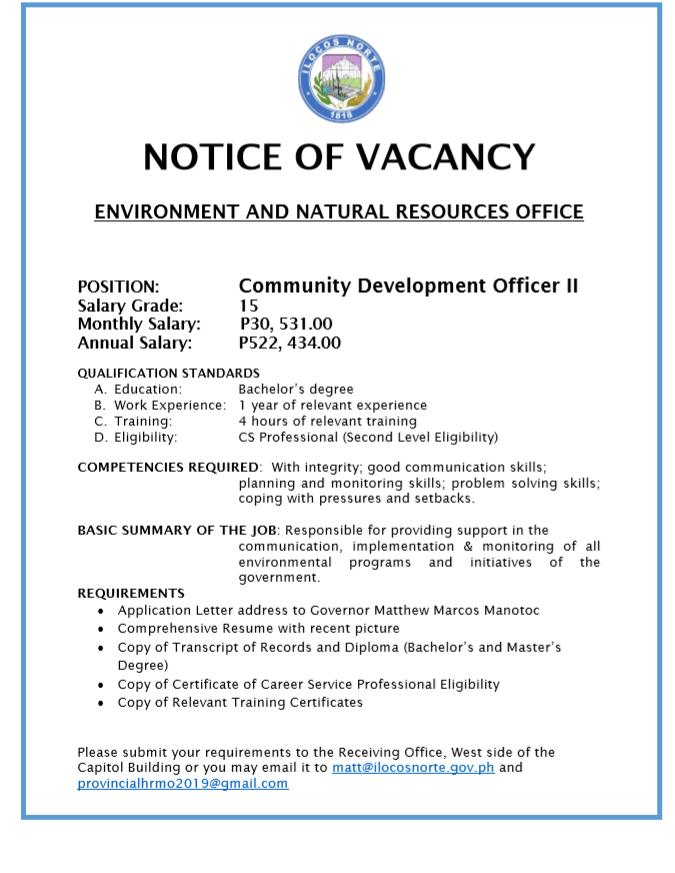 Community Development Officer II